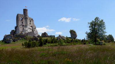 Ruiny zamku w Mirowie fot. Lowell