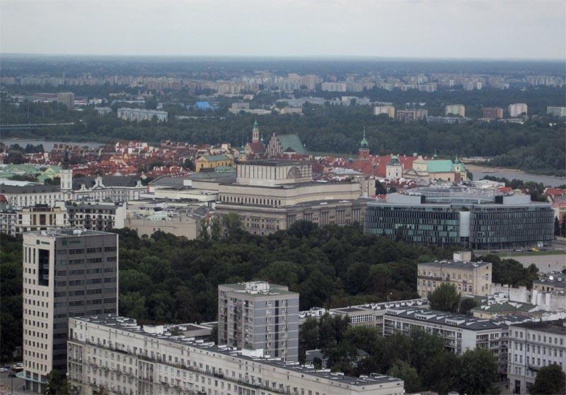 Widoki z Pałacu Kultury - Stare Miasto