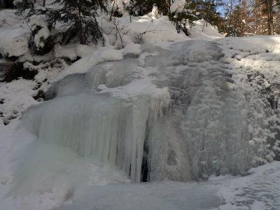 Wodospad Dusiaca zimą