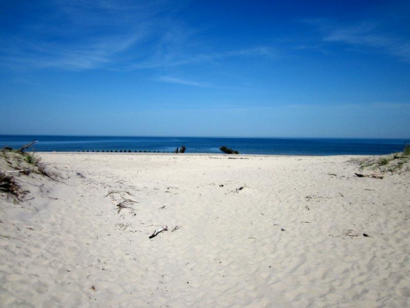 Przekop - widok na morze