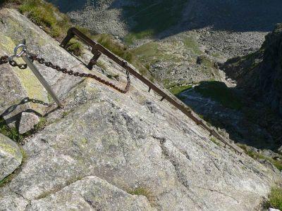Drabinka na Kozią Przełęcz