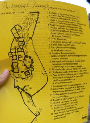 Plan orientacyjny ruin zamku Fot. Lowell