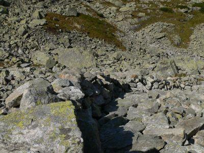 Kamienne murki na szlaku na Wrota Chałbińskiego